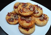 resep membuat mini pizza ayam